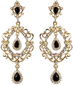 Amrita Singh Austrian Crystal & Goldtone Camilla Crown Drop Earrings
