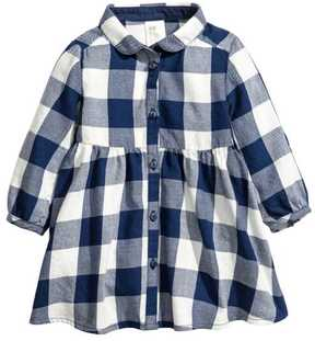 H&M Checked Flannel Dress