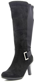 Kelly & Katie Motif Wide Calf Round Toe Synthetic Knee High Boot.