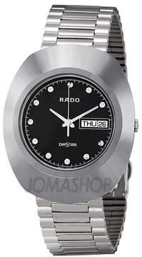 Rado Diastar Black Dial Polished Stainless Steel Men's Watch