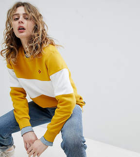 Converse Cons Skate Sweatshirt In Yellow And White