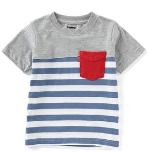 Levi's Big Boys 8-20 Short-Sleeve Striped/Blocked Sunset Tee