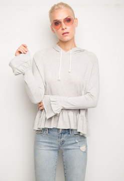 Generation Love Easton Ruffle Hooded Sweatshirt