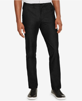 Kenneth Cole New York Men's Slim-Fit Stretch Pin-Dot Hybrid Pants