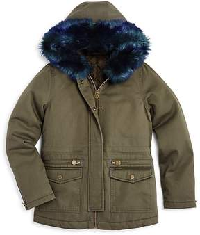 Aqua Girls' Faux-Fur-Trimmed Parka Jacket, Big Kid - 100% Exclusive