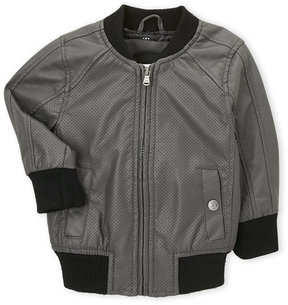 Urban Republic Toddler Boys) Faux Leather Perforated Bomber Jacket