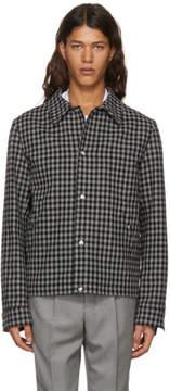 Ami Alexandre Mattiussi Black and Grey Short Check Jacket