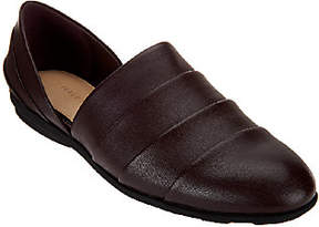Halston H by Pieced Leather Slip-on Shoes- Elisa
