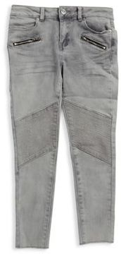 Calvin Klein Jeans Girls Distressed Moto Jeans
