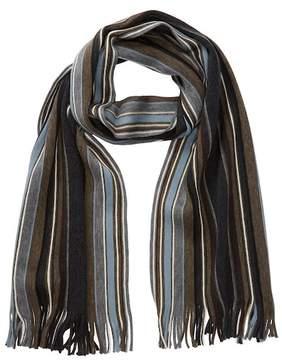 Tommy Bahama Stripe Fringe Trim Wool Wrap Scarf
