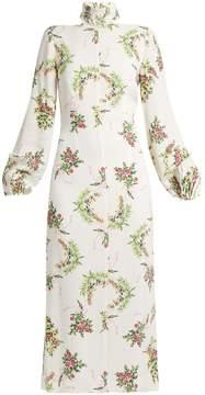 Emilia Wickstead Alison floral-print crepe midi dress