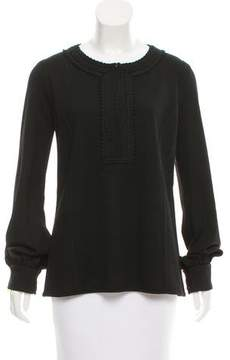 Andrew Gn Long Sleeve Embroidered Top w/ Tags