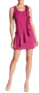 Donna Morgan Ruffle Crepe Shift Dress