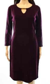Calvin Klein Women's Hardware Keyhole Neckline Sweater Dress