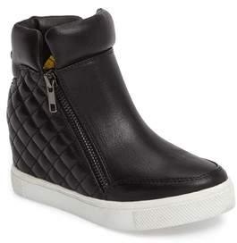 Steve Madden Girl's Loops Concealed Wedge Sneaker