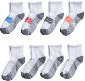 Hanes Boys Ultimate 8-pack Quarter Socks