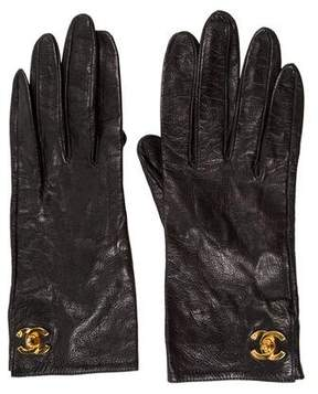 Chanel Lambskin Turn-Lock Gloves