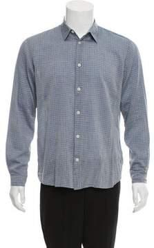 Folk Plaid Button-Up Shirt