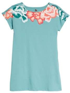 Tea Collection Button Shoulder T-Shirt Dress