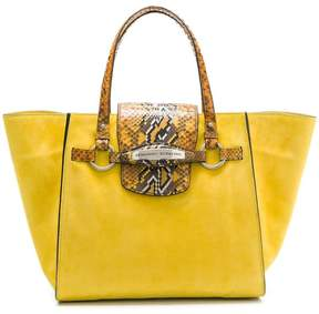 Ermanno Scervino animal print details shopper tote