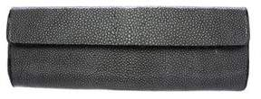Nancy Gonzalez Stingray & Crocodile Cylindrical Clutch Bag