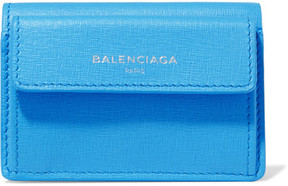 Balenciaga Textured-leather Wallet - Azure