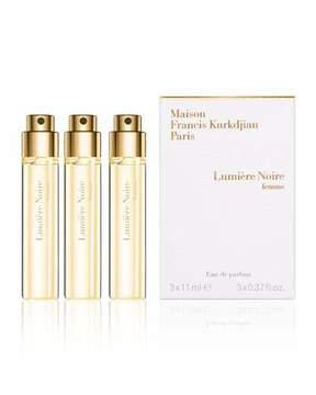 Francis Kurkdjian Lumière Noire femme Eau de Parfum Spray Refills, 3 x 0.37 oz.