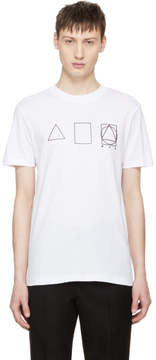McQ White Glyph Icons T-Shirt