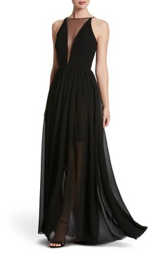 Dress the Population Women's Patricia Illusion Gown