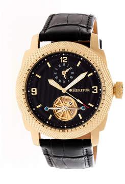 Heritor Helmsley Mens Black Strap Watch-Herhr5007
