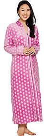 Carole Hochman As Is Stretch Velour Full Zip Lounge Robe