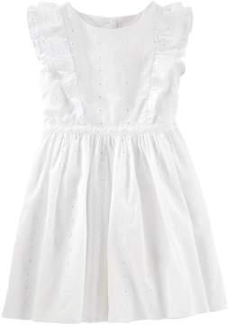 Osh Kosh Oshkosh Bgosh Girls 4-8 White Flutter Eyelet Dress