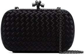 Bottega Veneta black Chain Knot silk satin shoulder bag
