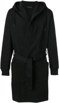 Diesel Black Gold hooded belted coat