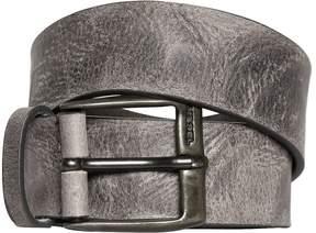 Diesel 40mm Vintage Treated Leather Belt