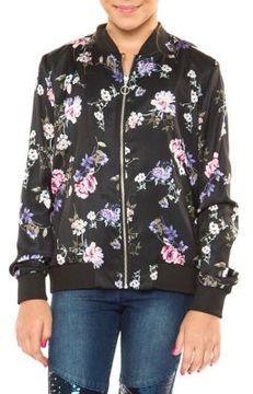 Dex Girl's Floral Bomber Jacket