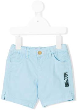 Moschino Kids embroidered logo shorts
