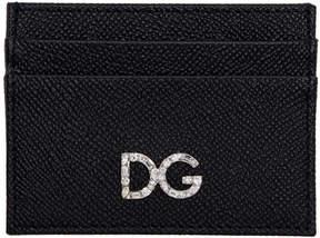 Dolce & Gabbana Black Crystal Logo Card Holder