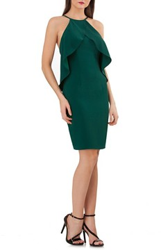 Carmen Marc Valvo Women's Ruffle Crepe Sheath Dress