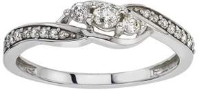 Armani Exchange Jewelry Diamond 3-stone Engagement Ring in 10kt White Gold