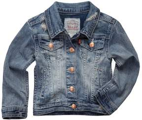 Levi's Toddler Girls Distressed Denim Trucker Jacket