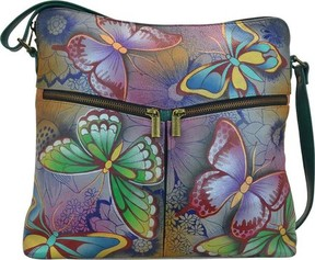 Anuschka Anna By ANNA by Hand Painted Leather Shoulder Bag 8202 (Women's)