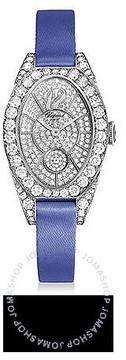 Chopard Classique Femme Diamond 18k White Gold Blue Satin Ladies Watch