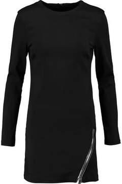RtA Yves Zip-Embellished Modal-Blend Mini Dress