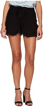 BB Dakota Alder Rayon Twill Double Ruffle Hem Shorts Women's Shorts