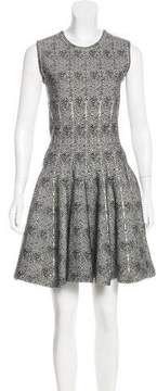 Alaia Wool-Blend Fit & Flare Dress