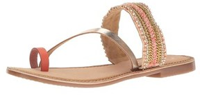 Callisto Womens Sari Open Toe Casual Flat Sandals.