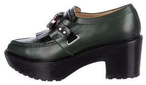 Toga Pulla Leather Platform Loafers