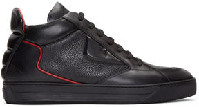 Fendi Black Bag Bug Mid-Top Sneakers