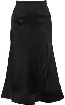 Esteban Cortazar Satin And Cady Midi Skirt - Black
